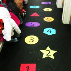 School Stepping stones floor stickers