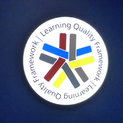 Circular Quality Learning Lightbox for School Wall Display