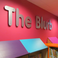 The Blurb School Library Wall Sign