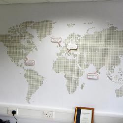 School Map Wall Mural