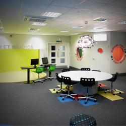 School Media Room Graphics Display