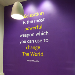 School Nelson Mandela Wall Quote