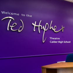 School Theatre Sign - 3D stainless Steel