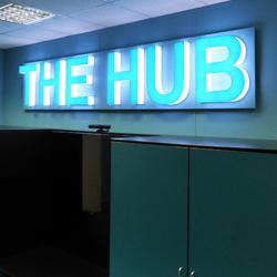 The Hub School Lettering Display