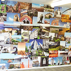Yorkshire montage wall mural shcools