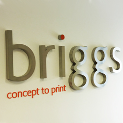 3D Stainless Steel Office Sign