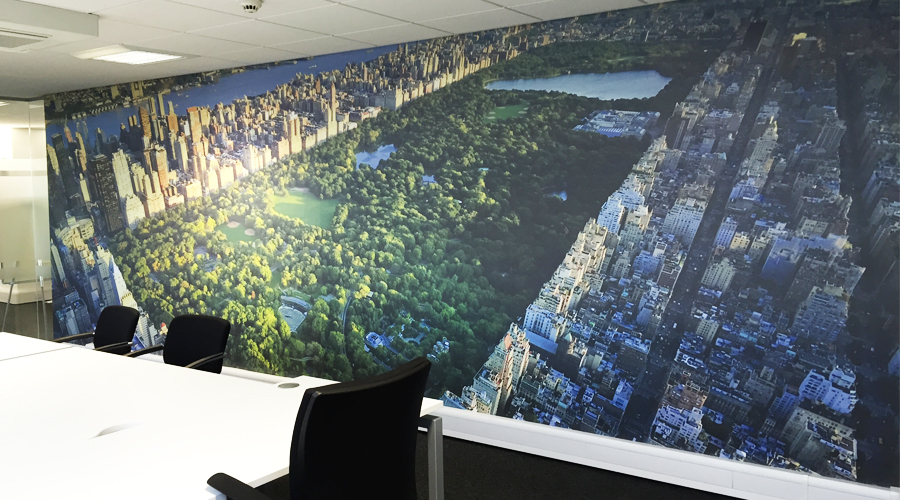 Wall murals space3 signage graphics display yorkshire for Central park mural