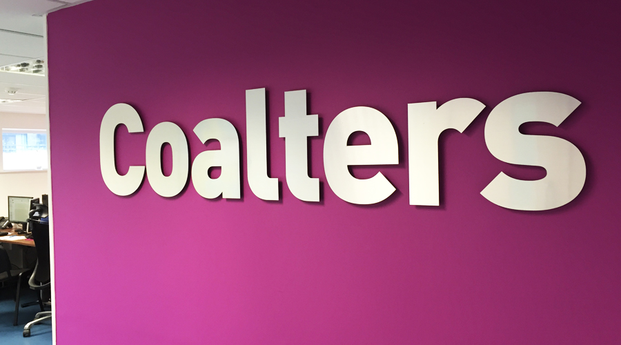 Coalters Flat Cut Office Sign