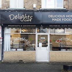 Deligh Cafe Shop Sign