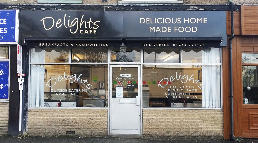 Delight Cafe Sign and Orning