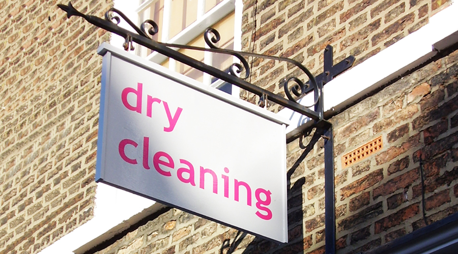 Dry Cleaning Hanging Sign