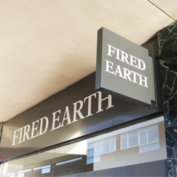 Fired Earth Projecting Sign