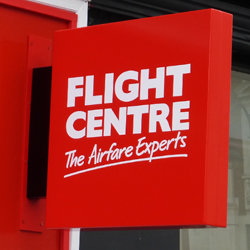 Flight Centre Projecting Sign