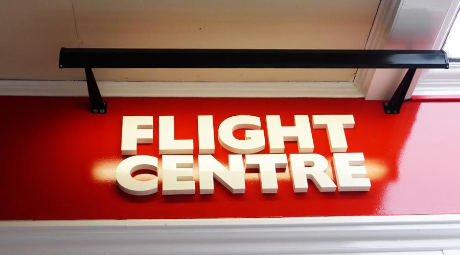 Flight Centre Shop Sign 3D Letters