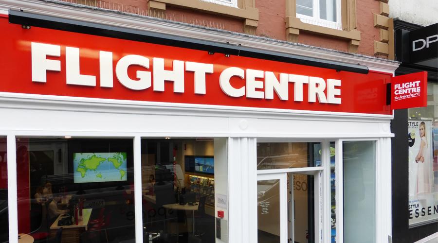 Flight Centre Shop Signs