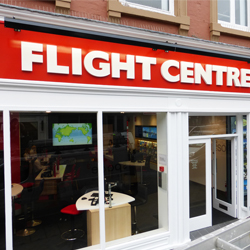 Flight Centre 3D Acrylic Letters