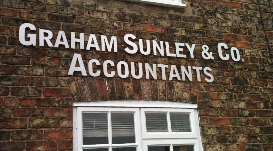 Graham Sunley Flat Cut Stainless Steel Exterior Sign