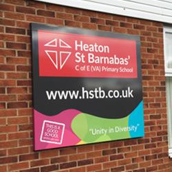 Bradford School Exterior Sign