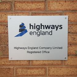 HIghways England Etched Plaque