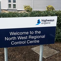 Highways England Post Sign