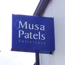 Musa Patel Projecting Sign