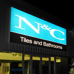 N&C Lightbox Sign