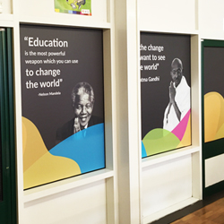 Nelson Mandela and Gandi School Wall Quotes