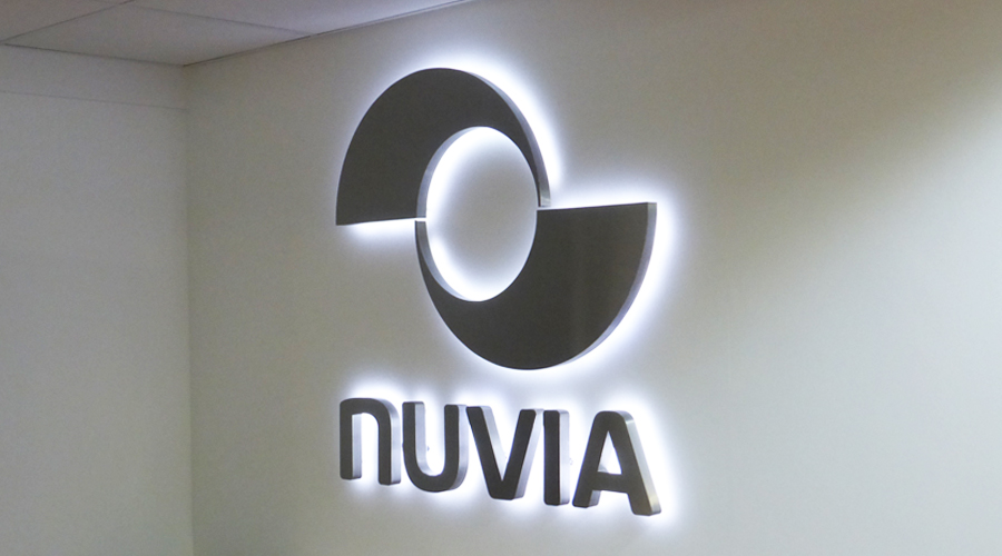 Nuvia Halo Illuminated Logo Sign