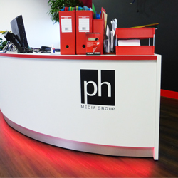 Reception Desk Vinyl Logo