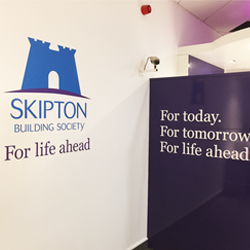 Skipton Building Society Wall Logo
