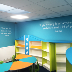 Roald Dahl Library Wall Quote