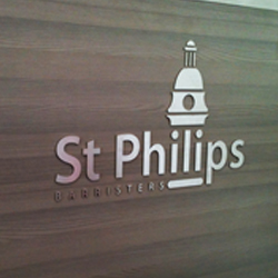 Reception Desk Flat Stainless Steel Sign