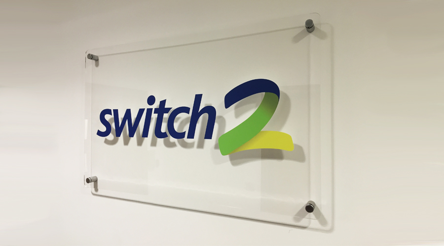 Switch2 Acrylic Plaque Sign