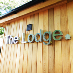 The Lodge 3D Stainless Steel Letters