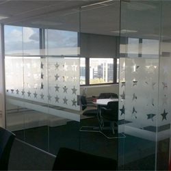 USA Stars Frosted Glass