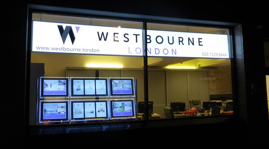 Westbourne Estate Agents Lighbox Signage