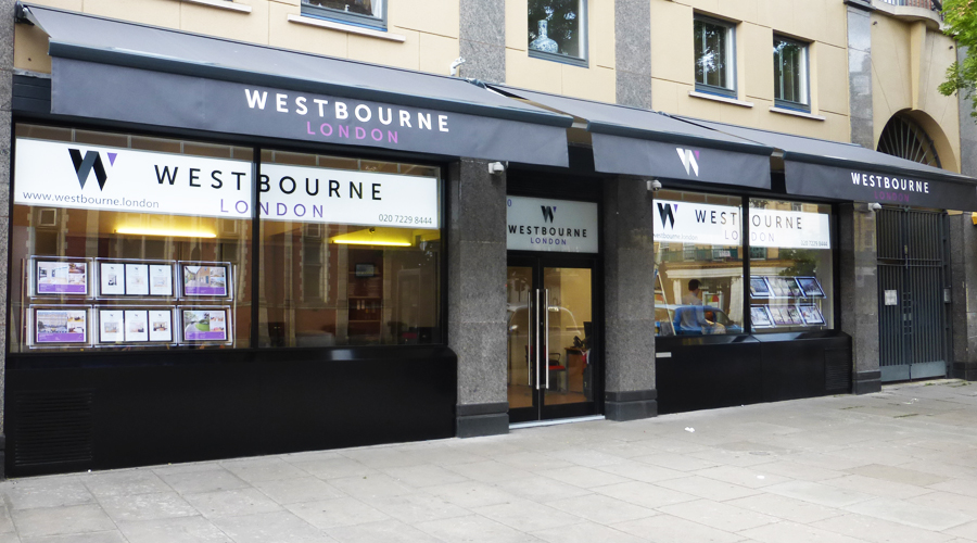 Westbourne Estate Agents Signage and Ornings