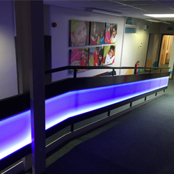 RGB LED Illuminated balustrade
