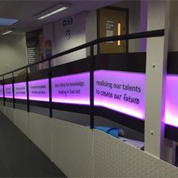RGB colour changing LED illumination