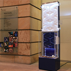 Illuminated donation box