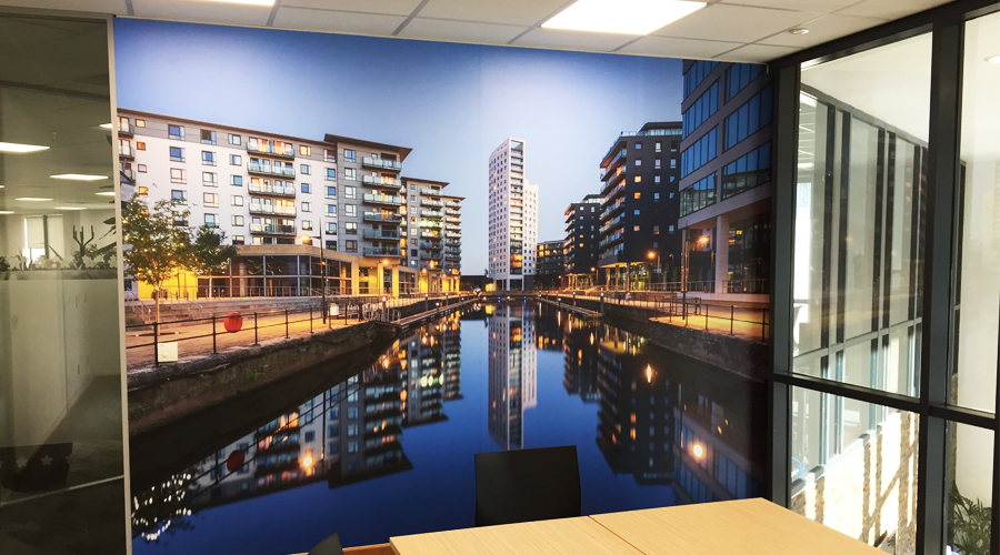 Bradford Leeds Canal Wall Mural