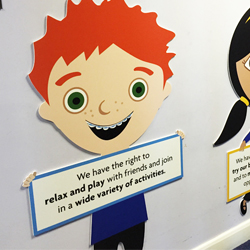 Custom School Rights and Responsibility displays