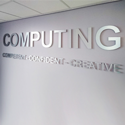 Computer Room Stainless Steel Sign