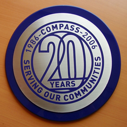 Compass Stainless Steel Plaque