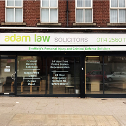 Sheffield Solicitors Window Graphics