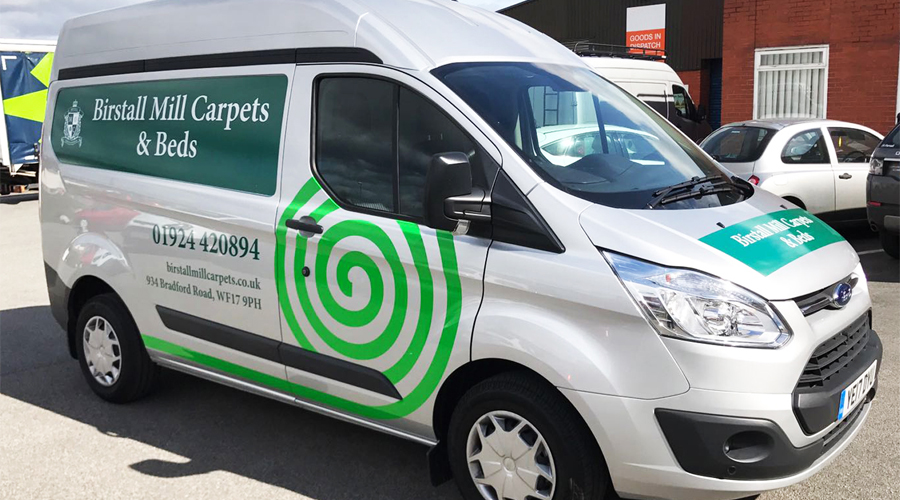 Birstall Mill Carpets Van Graphics