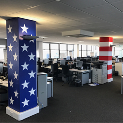 Vinyl Graphics on column American flag