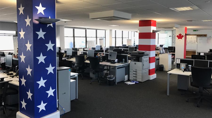 American Column Office Decoration