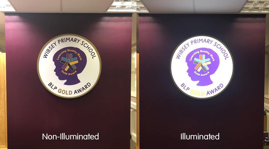 BLP School circular illuminated lightbox