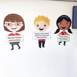 School Value Characters - Birkby School